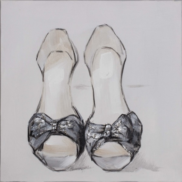 Wandbild PUMPS, handgemalt, in Acrylfarben