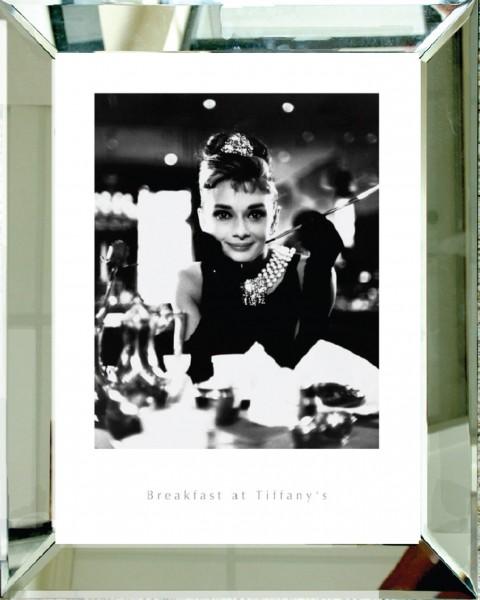 Wandbild mit Spiegelrahmen BREAKFAST AT TIFFANY'S