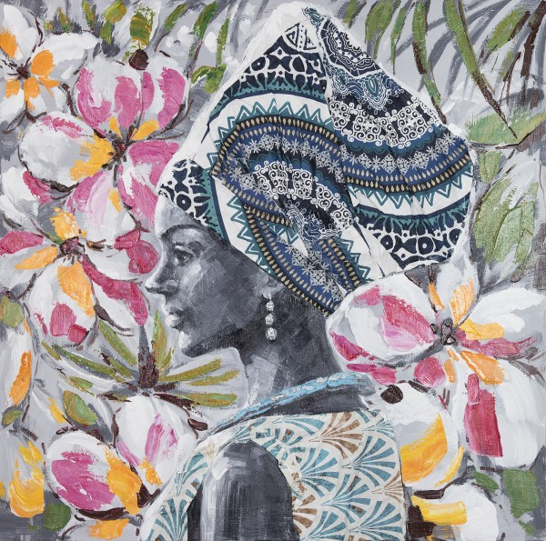 Wandbild MAGIC WOMEN 1, handgemalt, in Acrylfarben
