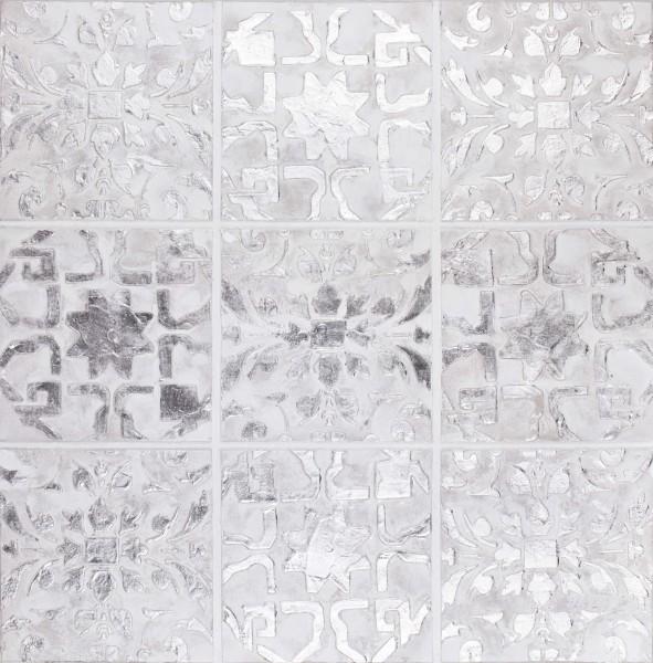 Wandbild ORNAMENT 1, handgemalt, in Acrylfarben