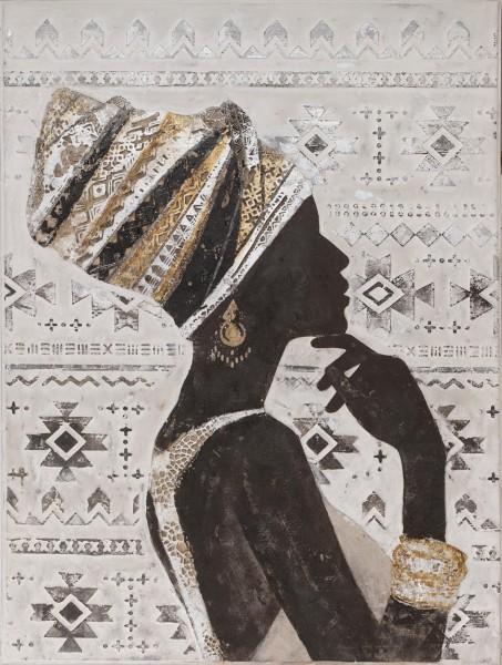 Struktur-Wandbild Frau exotisch