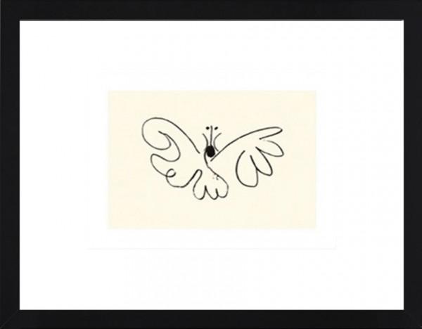 Picasso-Kunstdruck SCHMETTERLING