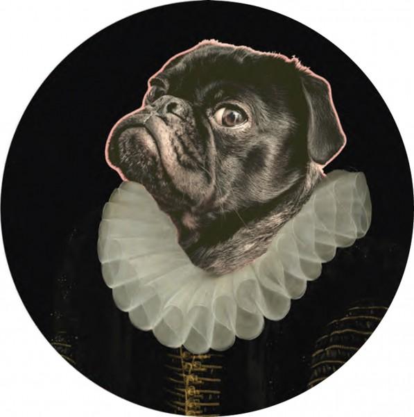 Glasbild, rund DOG