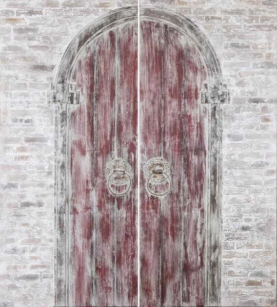 3 D-Wandbild Indische Tür