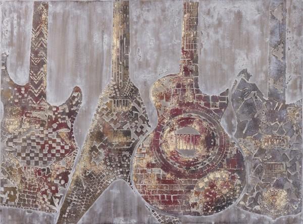 Wandbild Gitarren