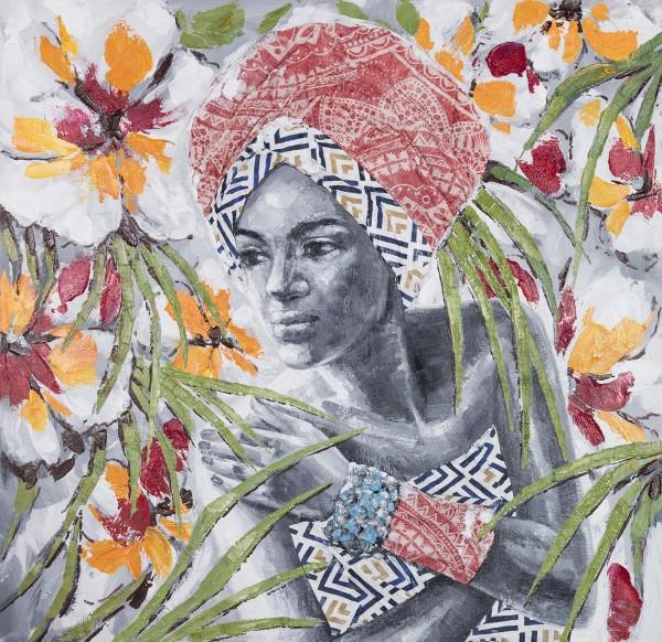 Wandbild MAGIC WOMEN 2, handgemalt, in Acrylfarben