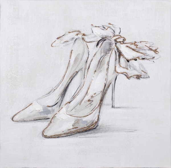 Wandbild HIGH HEELS, handgemalt, in Acrylfarben