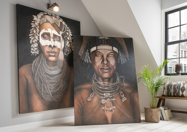 Wandbild INDIAN Man, links 96.018-100616, rechts 96.017-100615