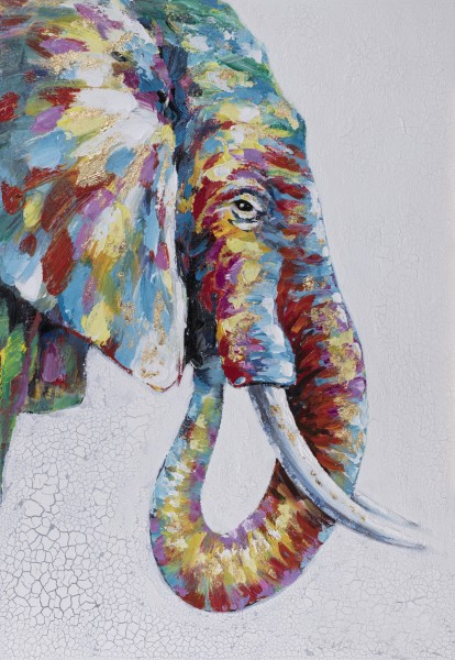 Struktur-Wandbild Elefant Nr. 5