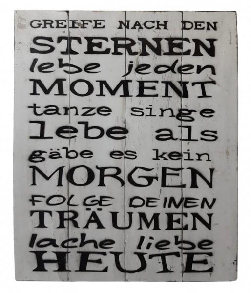 Deko-Holzschild mit Spruch BOARD No. 1, handgefertigt
