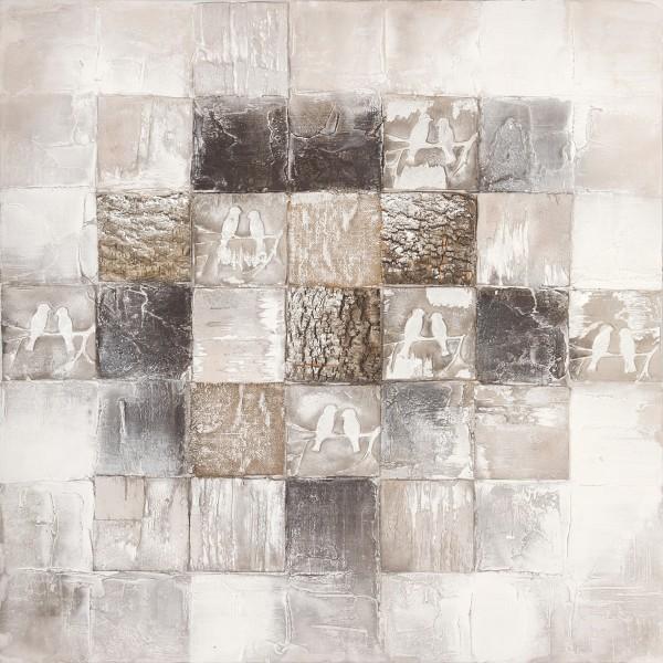 Wandbild ABSTRAKT 2, handgemalt, in Acrylfarben
