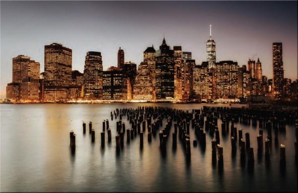 Glasbild NEW YORK NIGHT