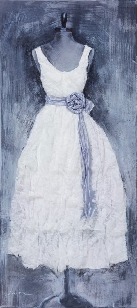 Wandbild KLEID 2, handgemalt, in Acrylfarben