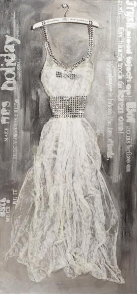 Wandbild KLEID 3, handgemalt, in Acrylfarben