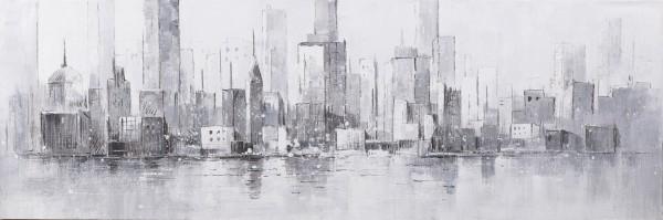 Struktur-Wandbild Skyline