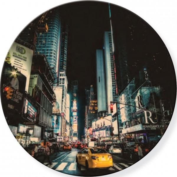 Glasbild, rund NEW YORK 3