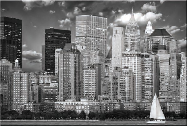 Glasbild NEW YORK B/W