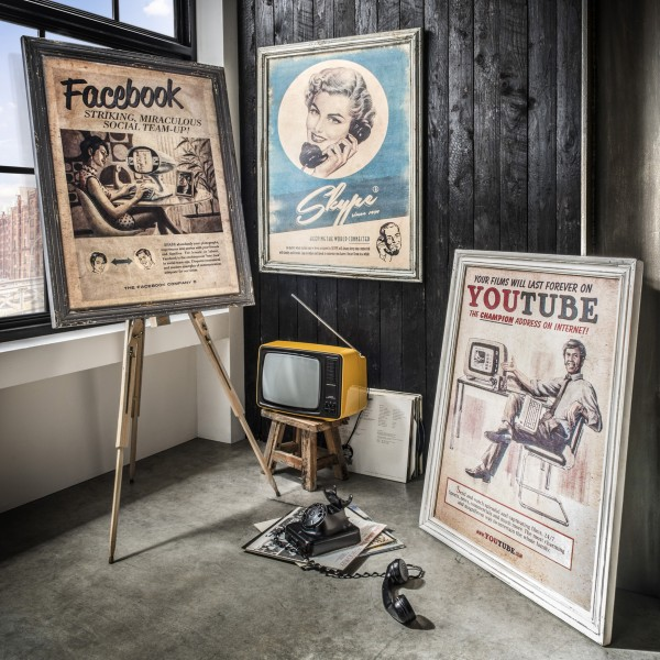 Vintage-Wandbild SKYPE